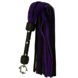 "Fancy Suede Flogger 30 Falls 1/2"" Wide"