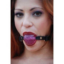 "Ball Gag 1 3/4"" Purple Metallic Gel"""