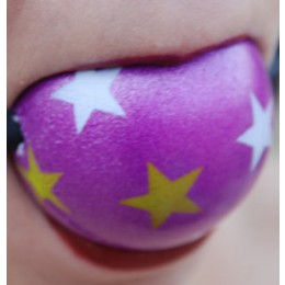 "Ball Gag 2 1/8"" Purple Star"""