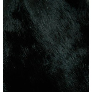 Bunny Fur Mitt - Black