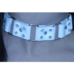White Lady Collar with Gems