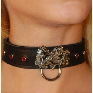 Dragon Collar with Red Gems
