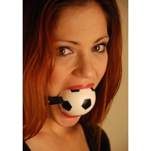 """Ball Gag 2 1/4"""" Sports Squeeze Ball Soccer Ball"""""""