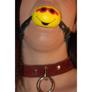 """Ball Gag 2 1/4"""" Smiley Squeeze Ball"""""""