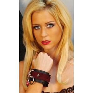Love Cuffs - Blk & Burg Suede Lining