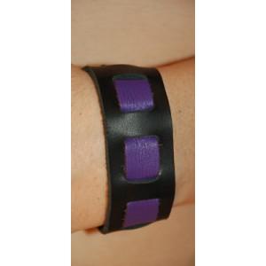 "Black/Lavender Wrist Band, 1"" Wide with Lavender weave"""